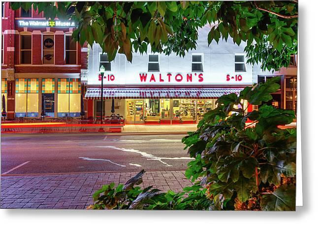 Where It All Began - Sam Walton's First Store - Bentonville Arkansas Greeting Card by Gregory Ballos