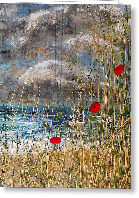 Where Poppies Blow Detail Greeting Card