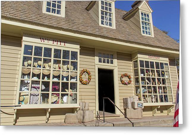 Where Santa Shops In Colonial Williamsburg Greeting Card