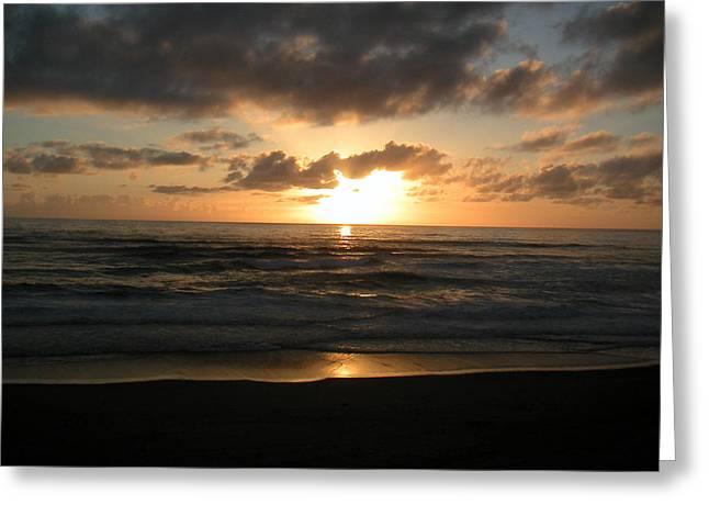 Where Sun And Ocean Meet Greeting Card