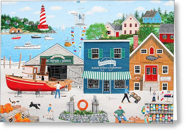 Where The Buoys Are Greeting Card