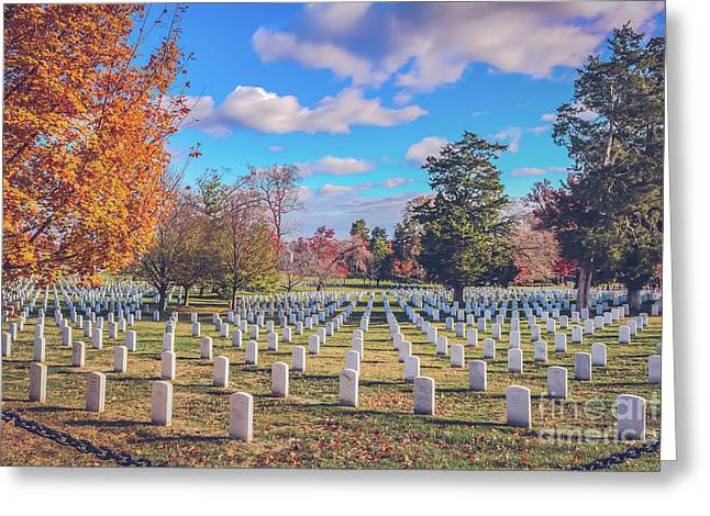 Where The Heroes Rest Greeting Card by Claudia M Photography