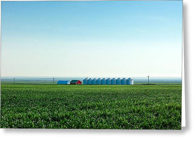 Where The Plains Meet The Sky Greeting Card by Todd Klassy