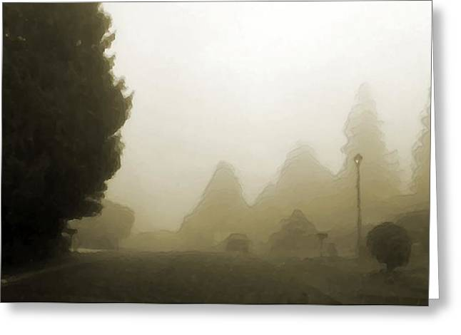 Where The Street Has No Name Greeting Card by Marcello Cicchini