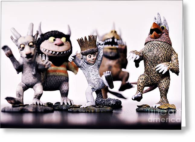 Where The Wild Things Are Greeting Card by HD Connelly