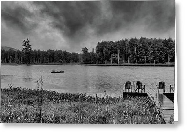 Greeting Card featuring the photograph Where To View Twin Ponds by David Patterson