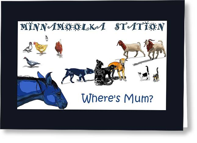 Where's Mum Greeting Card
