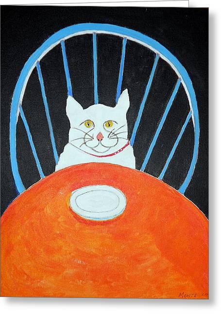 Where's My Dinner? Greeting Card by Robert Anthony Montesino