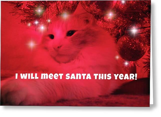 Where's Santa? Greeting Card by JAMART Photography
