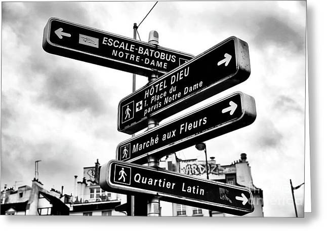 Which Way In Paris Greeting Card