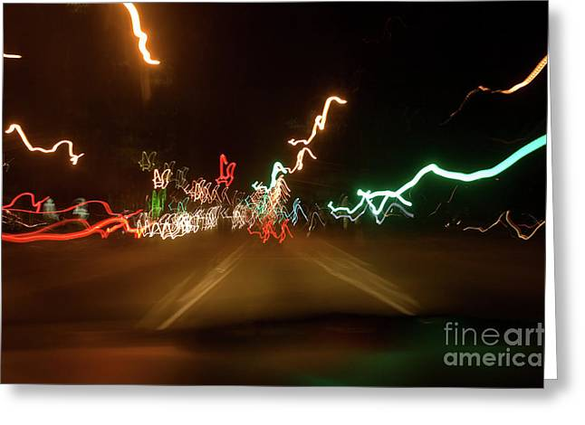 While Driving Greeting Card