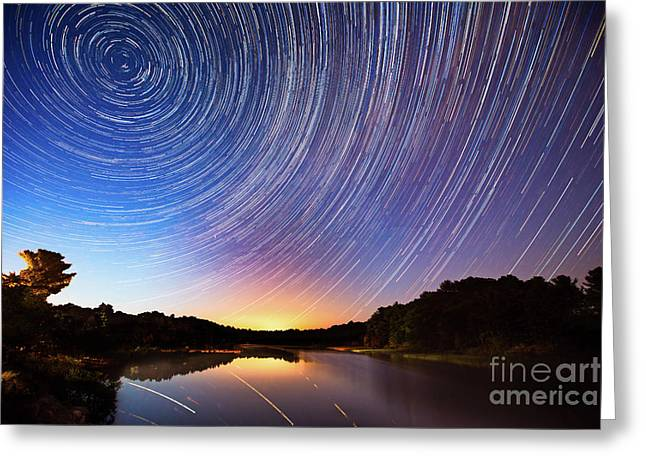 While You Were Sleeping Greeting Card by Todd Bielby