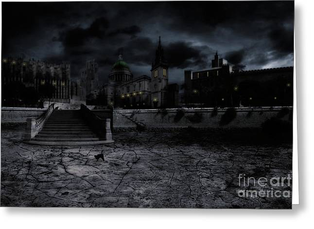 Whilst The City Sleeps Greeting Card by John Edwards