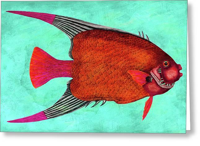 Whimsical Angel Fish Wall Art Greeting Card by Georgiana Romanovna