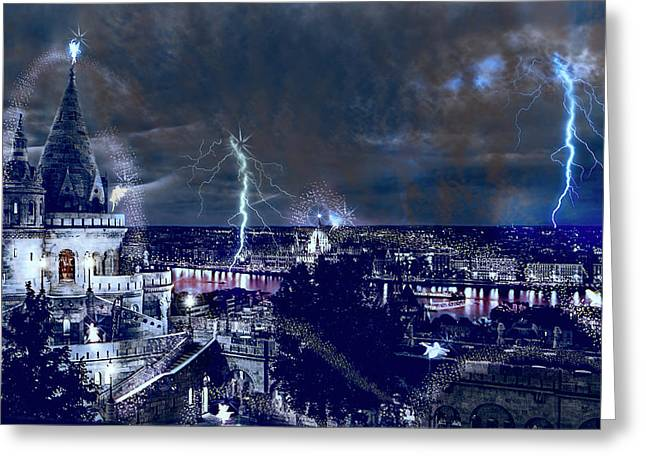 Whimsical Budapest Greeting Card