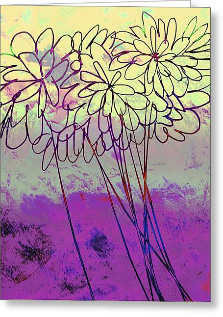 Whimsical Flower Bouquet Greeting Card by Ann Powell
