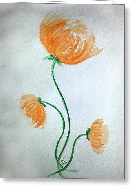 Whimsical Flowers Greeting Card
