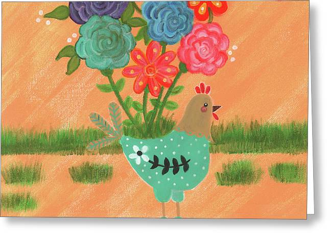 Henrietta The High Heeled Hen Greeting Card