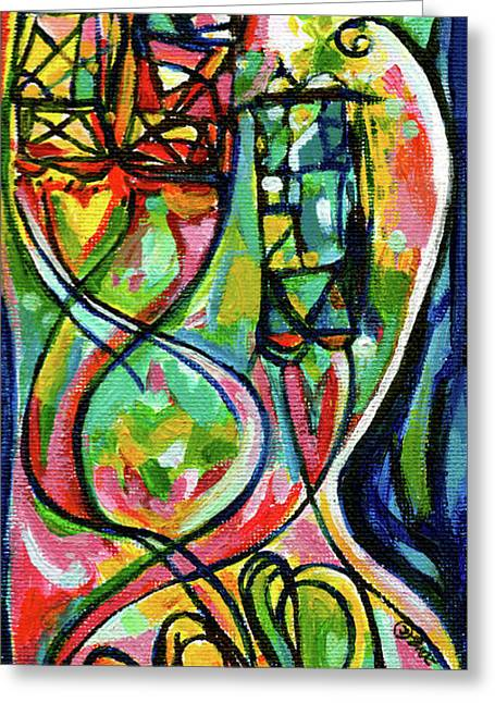 Creve Coeur Streetlight Banners Whimsical Motion 2 Greeting Card by Genevieve Esson