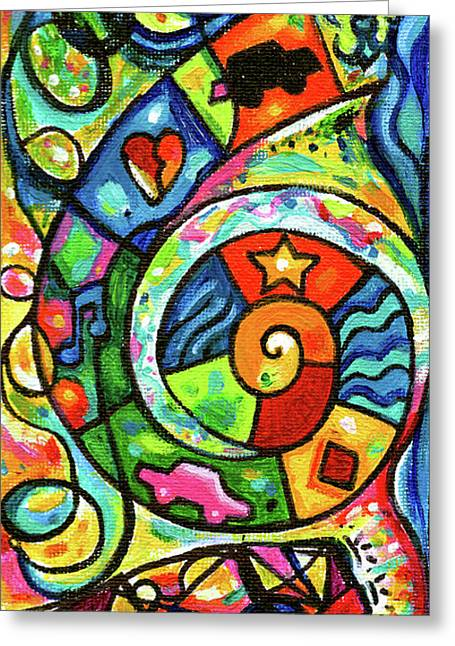 Creve Coeur Streetlight Banners Whimsical Motion 4 Greeting Card by Genevieve Esson