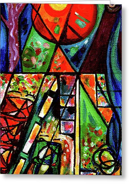 Creve Coeur Streetlight Banners Whimsical Motion 6 Greeting Card by Genevieve Esson