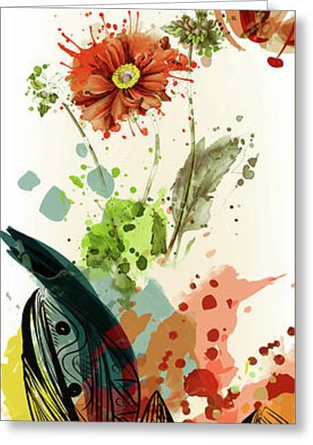 Whimsical Splash Of Sunshine Greeting Card
