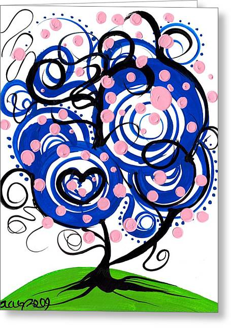 Whimsical Tree 3 Greeting Card by  Abril Andrade Griffith
