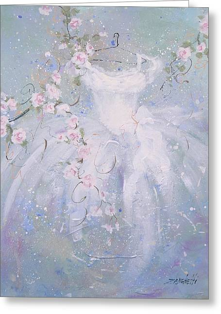Whimsy Greeting Card by Laura Lee Zanghetti