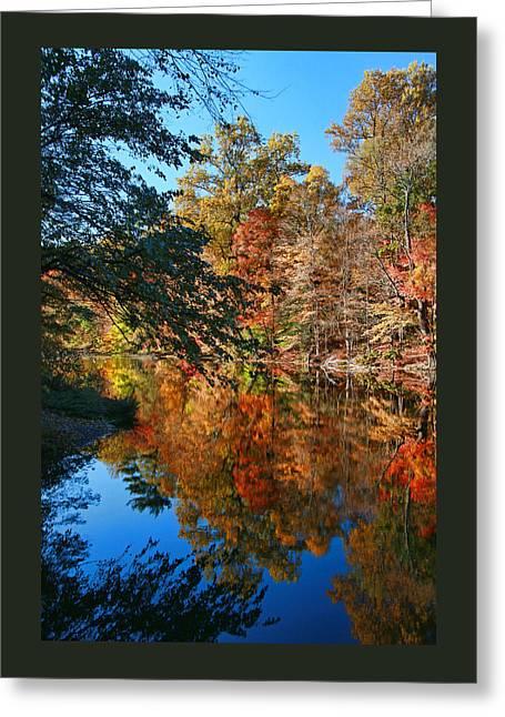 Whippany River Reflection 2 Greeting Card