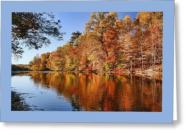 Whippany River Reflection Greeting Card