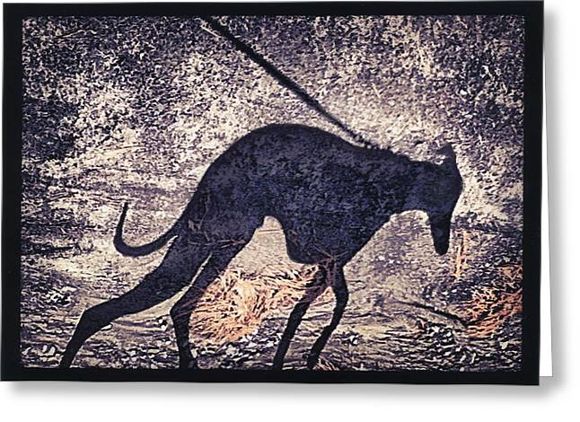 Whippet Silhouette Greeting Card by John Clum