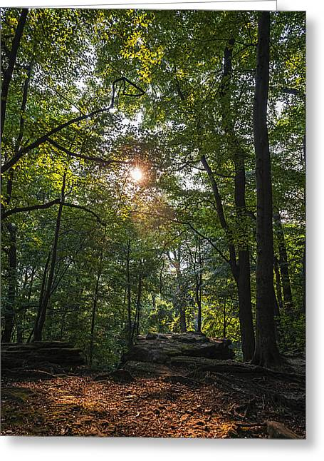 Whipps Ledges 1 Greeting Card by SharaLee Art