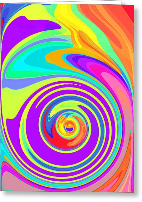 Whirl 5 Greeting Card by Chris Butler