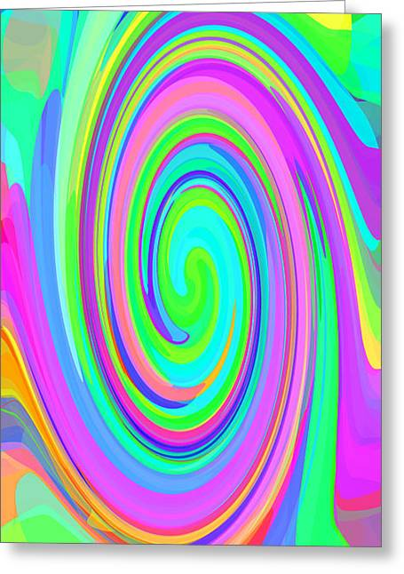 Whirl 6 Greeting Card by Chris Butler
