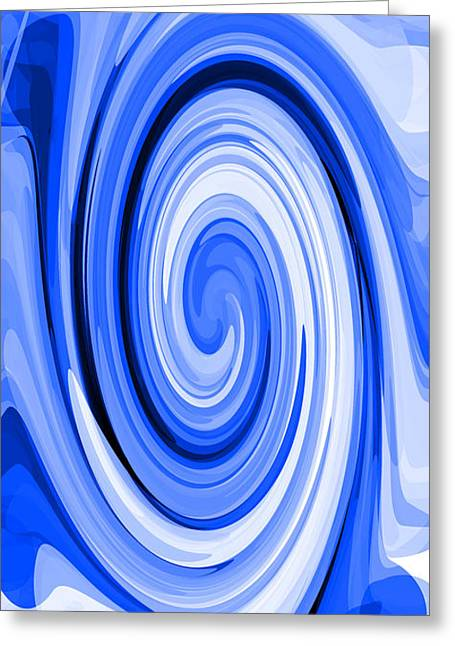 Whirl 7 Greeting Card by Chris Butler