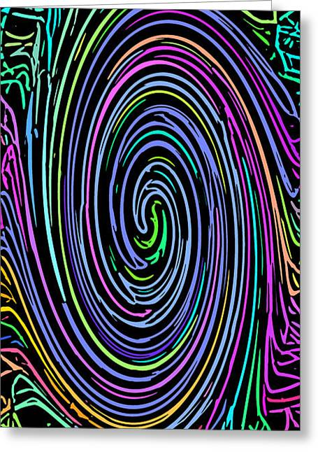 Whirl 8 Greeting Card by Chris Butler