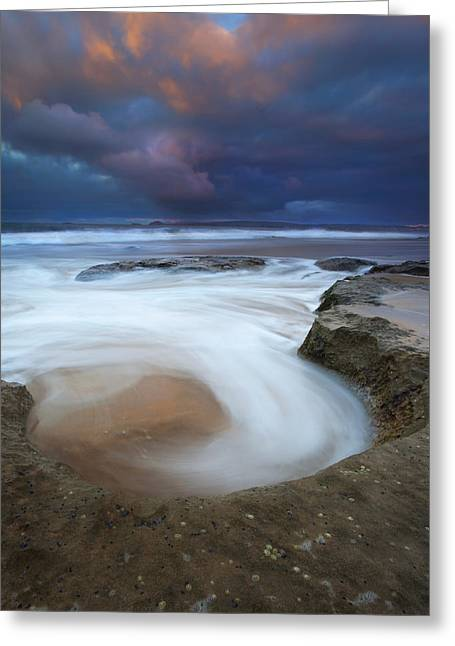Whirlpool Dawn Greeting Card by Mike  Dawson