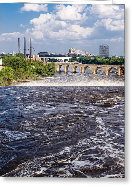 Greeting Card featuring the photograph Whirlpool On Mississippi by Mike Evangelist