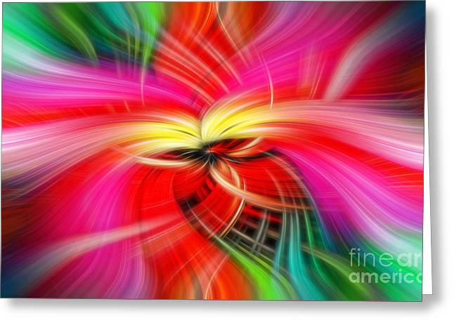 Whirlwind Of Colors Greeting Card by Sue Melvin