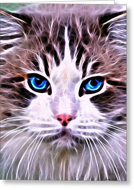 Whiskered One Greeting Card