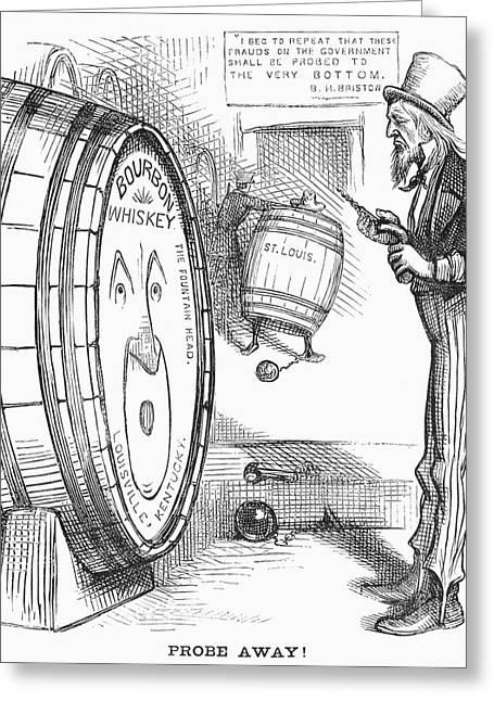 Whiskey Ring Cartoon, 1876 Greeting Card by Granger