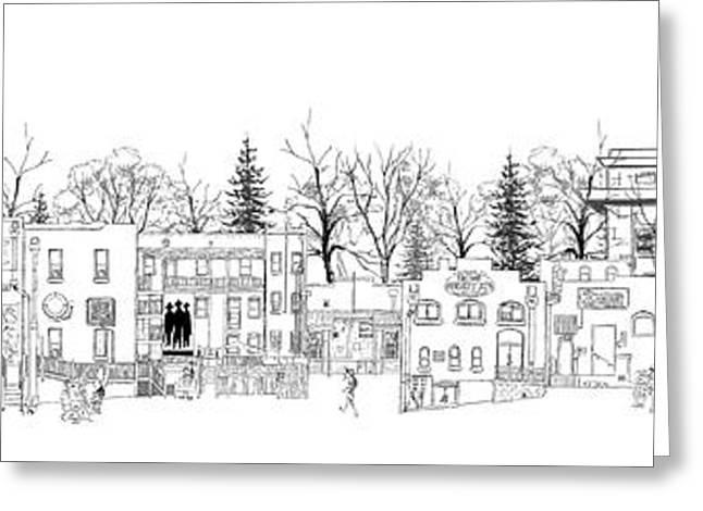 Whiskey Row Alley, Prescott Greeting Card by Joe King