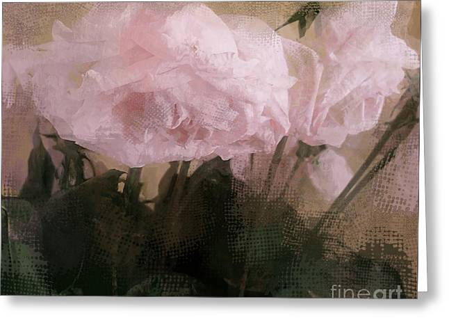 Whisper Of Pink Peonies Greeting Card by Alexis Rotella