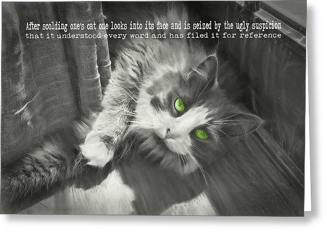 Whisper Quote Greeting Card by JAMART Photography