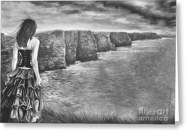 Whisper - The Cliffs Of Moher Greeting Card by Gary Rudisill