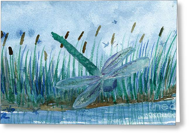Whispering Cattails Greeting Card