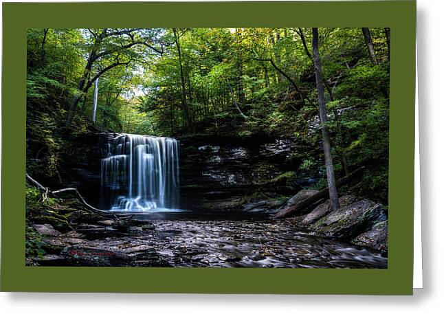 Whispering Falls Greeting Card by Marvin Spates
