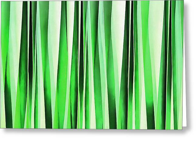 Whispering Green Grass Greeting Card by Tracey Harrington-Simpson