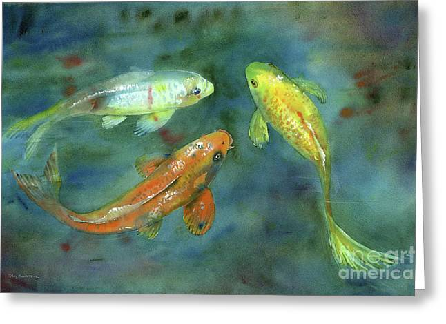 Whispering Koi Greeting Card