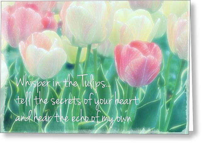 Whispering Tulips Greeting Card by ARTography by Pamela Smale Williams